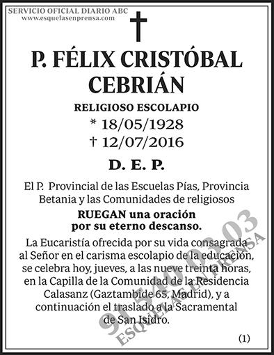Félix Cristóbal Cebrián